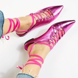 FREE PEOPLE Silent D Charly Lace-Up Flats EUR 40
